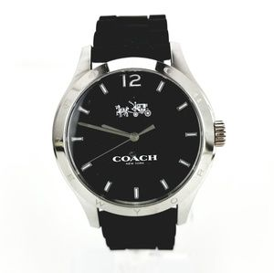 Coach Black Wristwatch Model# CA.79.7.14.1007 Sili